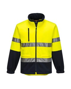Prime Mover Water Repellent Fleecy Jacket with Tape HV315