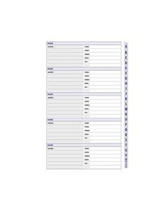 DEBDEN DAYPLANNER PERSONAL EDITION REFILL A-Z TABS 120 X 81MM