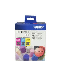 BROTHER LC133CL3PK INK CARTRIDGE VALUE PACK CYAN/MAGENTA/YELLOW