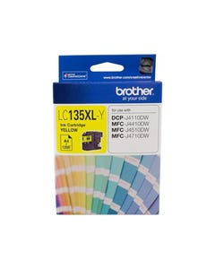 BROTHER LC135XLY INK CARTRIDGE HIGH YIELD YELLOW