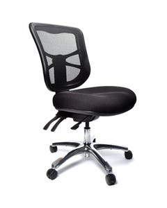 BURO METRO MESH CHAIR POLISHED ALUMINIUM BASE BLACK