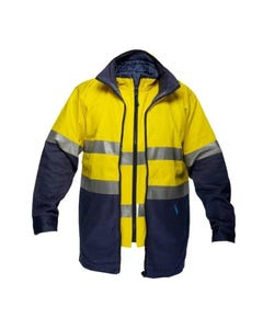 Prime Mover Hi-Vis Two Tone 4-in-1 Jacket with Tape HV208