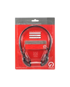 SHINTARO SH106M STEREO HEADSET WITH INLINE MICROPHONE BLACK