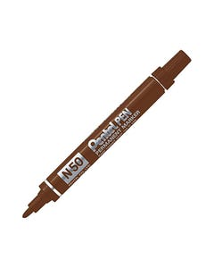 PENTEL N60 PERMANENT MARKER CHISEL 5.5MM BLACK BOX 12