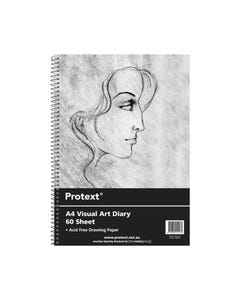 PROTEXT VISUAL ART DIARY WITH PP COVER 110GSM 120 PAGE A4