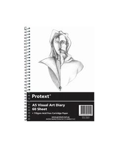 PROTEXT VISUAL ART DIARY WITH PP COVER 110GSM 120 PAGES A5