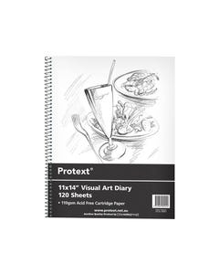 PROTEXT VISUAL ART DIARY WITH PP COVER 110GSM 120 PAGE 356 X 280MM