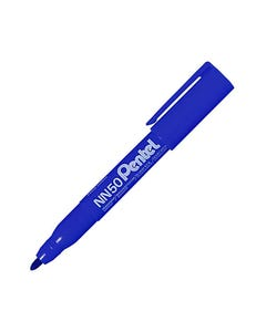 PENTEL NN50 GREEN LABEL PERMANENT MARKER BULLET 1.5MM BLUE