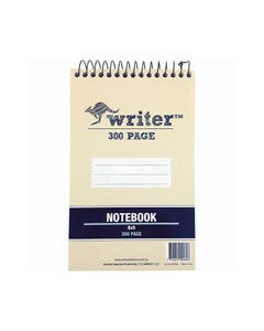 WRITER SPIRAL SHORTHAND NOTEBOOK 300 PAGE 60GSM 198 X 128MM