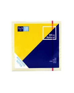 OFFICE NATIONAL PREMIUM NOTES 76 X 76MM YELLOW PACK 12