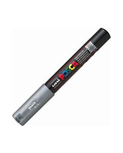 POSCA PC-1M PAINT MARKER BULLET EXTRA FINE 1.0MM SILVER