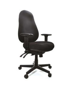 BURO PERSONA 24/7 OFFICE CHAIR HIGH-BACK 4-LEVER WITH ARMS JETT FABRIC BLACK