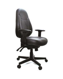 BURO PERSONA 24/7 OFFICE CHAIR HIGH-BACK 4-LEVER WITH ARMS LEATHER BLACK