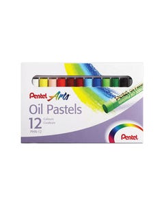 PENTEL ARTS OIL PASTELS ASSORTED PACK 12