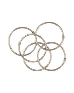 ESSELTE HINGED RINGS SIZE 6 25MM BOX 100