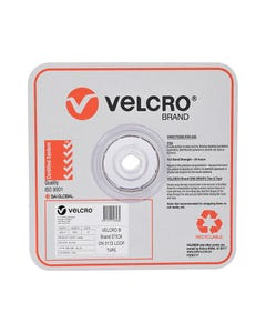 VELCRO BRAND STICK-ON LOOP TAPE 25MM X 25M WHITE