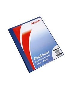 ESSELTE FLEXI BINDER 2 RING 20MM A4 CLEAR COVER ROYAL BLUE