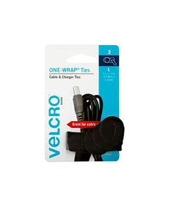 VELCRO BRAND ONE-WRAP CABLE TIES 13 X 178MM BLACK PACK 3