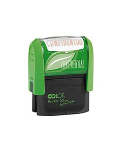 COLOP P20 GREEN LINE STAMP CONFIDENTIAL 14 X 38MM RED