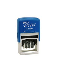 COLOP S260/L3B GREEN DATER STAMP FAXED 4MM RED/BLUE