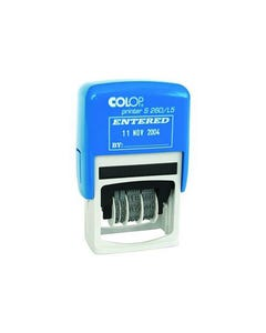 COLOP S260/L5B DATER STAMP ENTERED BLUE/RED