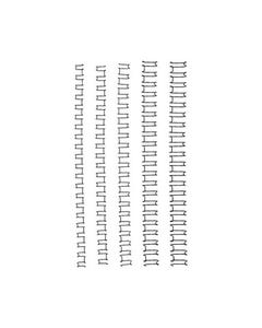 GBC WIRE BINDING COMB 21 LOOP 8MM A4 BLACK PACK 100