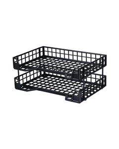 ESSELTE INDUSTRY DOCUMENT TRAY COLLAPSIBLE BLACK SET 2