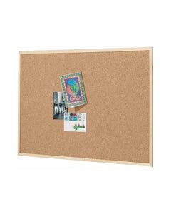 QUARTET ECONOMY WOODFRAME CORK BOARD 450 X 600MM