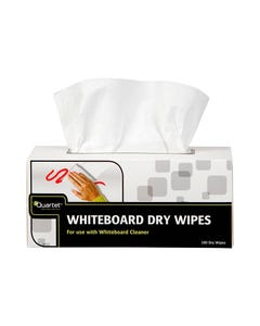 QUARTET WHITEBOARD DRY CLEANING WIPES BOX 180