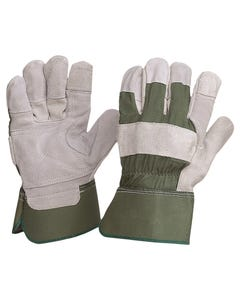 ProChoice® Green Cotton / Leather Gloves Large