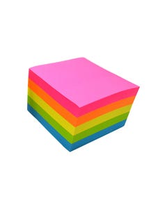 RAINBOW MY CRAFT STICKY NOTES FLURO ASSORTED 76 X 76MM 500 SHEETS