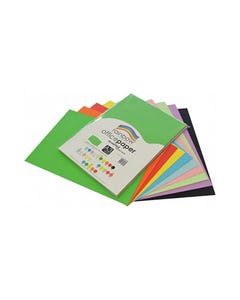 RAINBOW COLOURED A3 COPY PAPER 80GSM 100 SHEETS ASSORTED