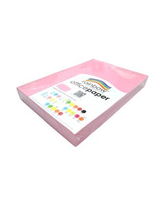 RAINBOW COLOURED A3 COPY PAPER 80GSM 500 SHEETS PINK