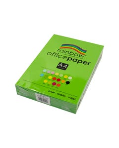 RAINBOW COLOURED A4 COPY PAPER 80GSM 500 SHEETS GREEN
