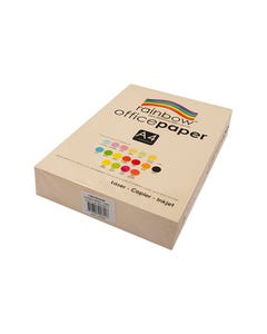 RAINBOW COLOURED A4 COPY PAPER 80GSM 500 SHEETS IVORY