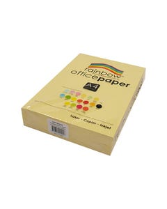 RAINBOW COLOURED A4 COPY PAPER 80GSM 500 SHEETS SAND
