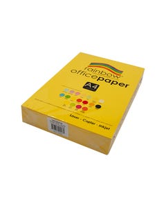 RAINBOW COLOURED A4 COPY PAPER 80GSM 500 SHEETS YELLOW