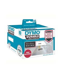 DYMO 1933085 LW DURABLE LABELS 19 X 64MM BLACK ON WHITE BOX 900