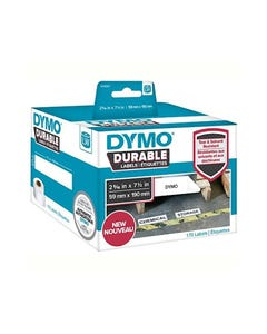 DYMO 1933087 LW DURABLE LABELS 59 X 190MM BLACK ON WHITE BOX 170