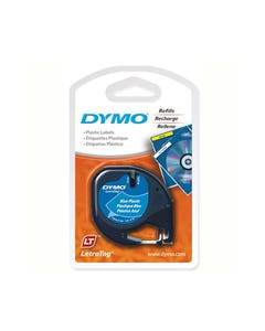 DYMO 91335 LETRATAG PLASTIC LABELLING TAPE 12MM X 4M ULTRA BLUE