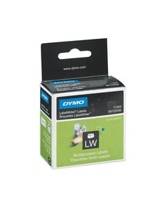 DYMO 11353 LW MULTI-PURPOSE LABELS 13 X 25MM 1 X ROLL 1000 2 UP WHITE