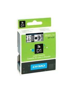 DYMO 45800 D1 LABELLING TAPE 19MM X 7M BLACK ON CLEAR