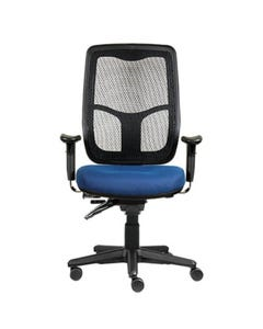 ERGOSELECT SWIFT ERGONOMIC CHAIR HIGH BACK WITH ARMS BLUE