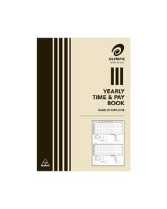 OLYMPIC YEARLY TIME AND PAY BOOK A5