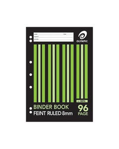 OLYMPIC B896 BINDER BOOK 8MM RULED 96 PAGE 55GSM A4
