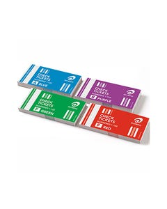 OLYMPIC CHECK TICKET 1-100 ASSORTED PACK 4