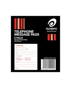 OLYMPIC TELEPHONE MESSAGE PADS 50 LEAF PACK 5