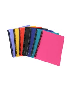 OLYMPIC DISPLAY BOOK REFILLABLE 20 PAGE RIBBED A4 ASSORTED PACK 20