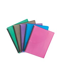 OLYMPIC DISPLAY BOOK REFILLABLE 20 PAGE RIBBED A4 FLURO ASSORTED PACK 20