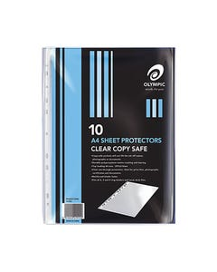 OLYMPIC SHEET PROTECTORS A4 PACK 10